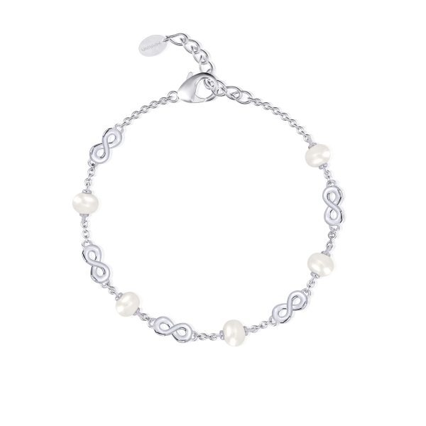 bracciale argento con perle