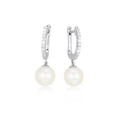 orecchini argento perle