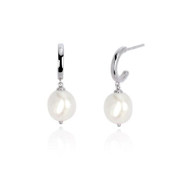 Orecchini in argento ipoallergenico con perle barocche mabina