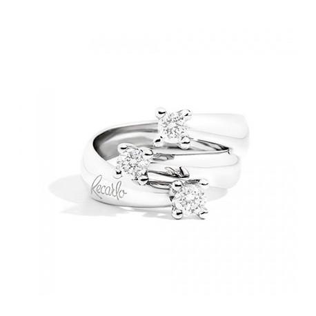 anello trilogy recarlo con diamanti ct 0,60