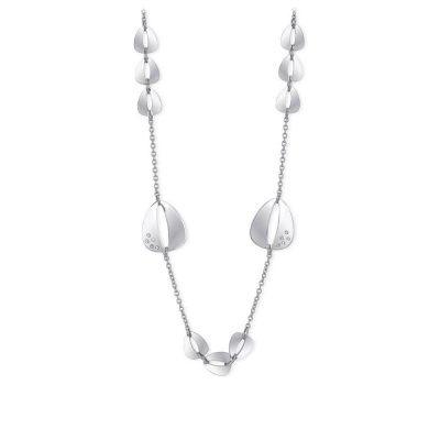 collana donna cristalli bianchi